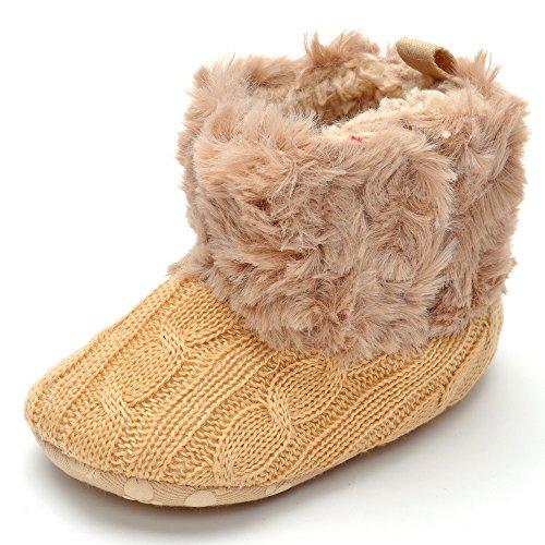 Peluche botas blanco blanco Talla:0-6month marrón