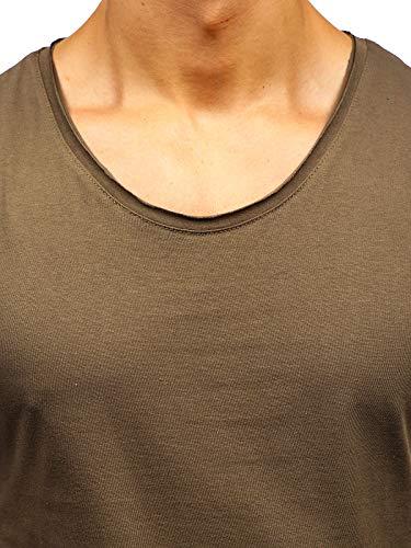 Col 3c3 Débardeur Bolf Manches Kaki shirt Homme Imprimé T Sans 1205 – Rond nZffSW1pT