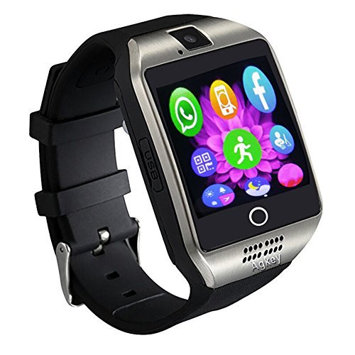 Mens Neo Icon - Smart Watch Touch Screen Bluetooth Smartwatch WristWatch and Unlocked Watch Phone with Camera Handsfree Call Smart Watches for Android Smartphones Samsung S8 S7 Note 8 5 4 LG BLU Huawei Men Boys Kids