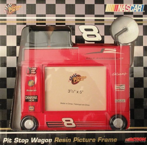 (NASCAR - Pit Stop Wagon - Resin Picture Frame, Photo size: 3.5