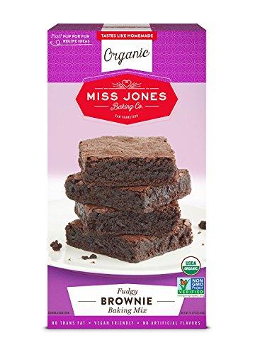 Chocolate Organic Brownie (Miss Jones Baking Organic Brownie Mix, Chocolate (Pack of 3))