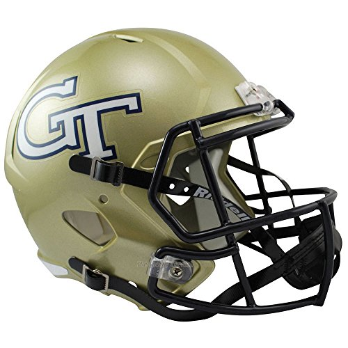 Riddell Georgia Tech Yellow Jackets Officially Licensed NCAA Speed Full Size Replica Football Helmet