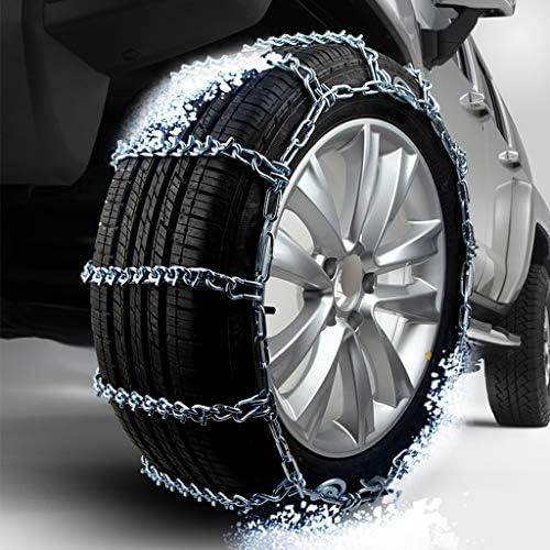携帯用緊急牽引車のスノータイヤの滑り止めの鎖 スノーチェーン215 / 65R15、雪チェーンキット、タイヤの緊急トラクション タイヤチェーン 金属亀甲チェーン TPUバンおよび軽トラック用ユニバーサルフィットタイヤ繰り返し使用