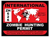 International Zombie Hunting Permit (Bumper Sticker)