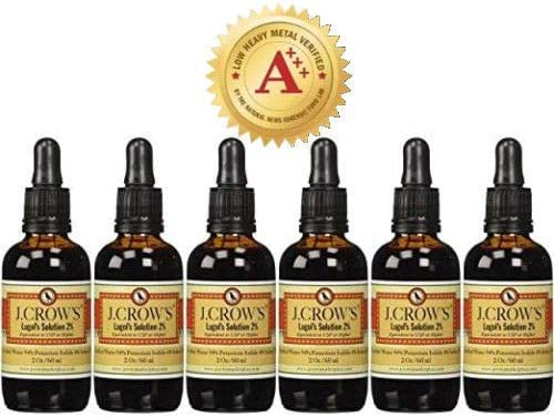J.CROW'S® Lugol's Solution OFFicial mail order of Challenge the lowest price Iodine 2% Pack oz 2 Bottles 6 Six