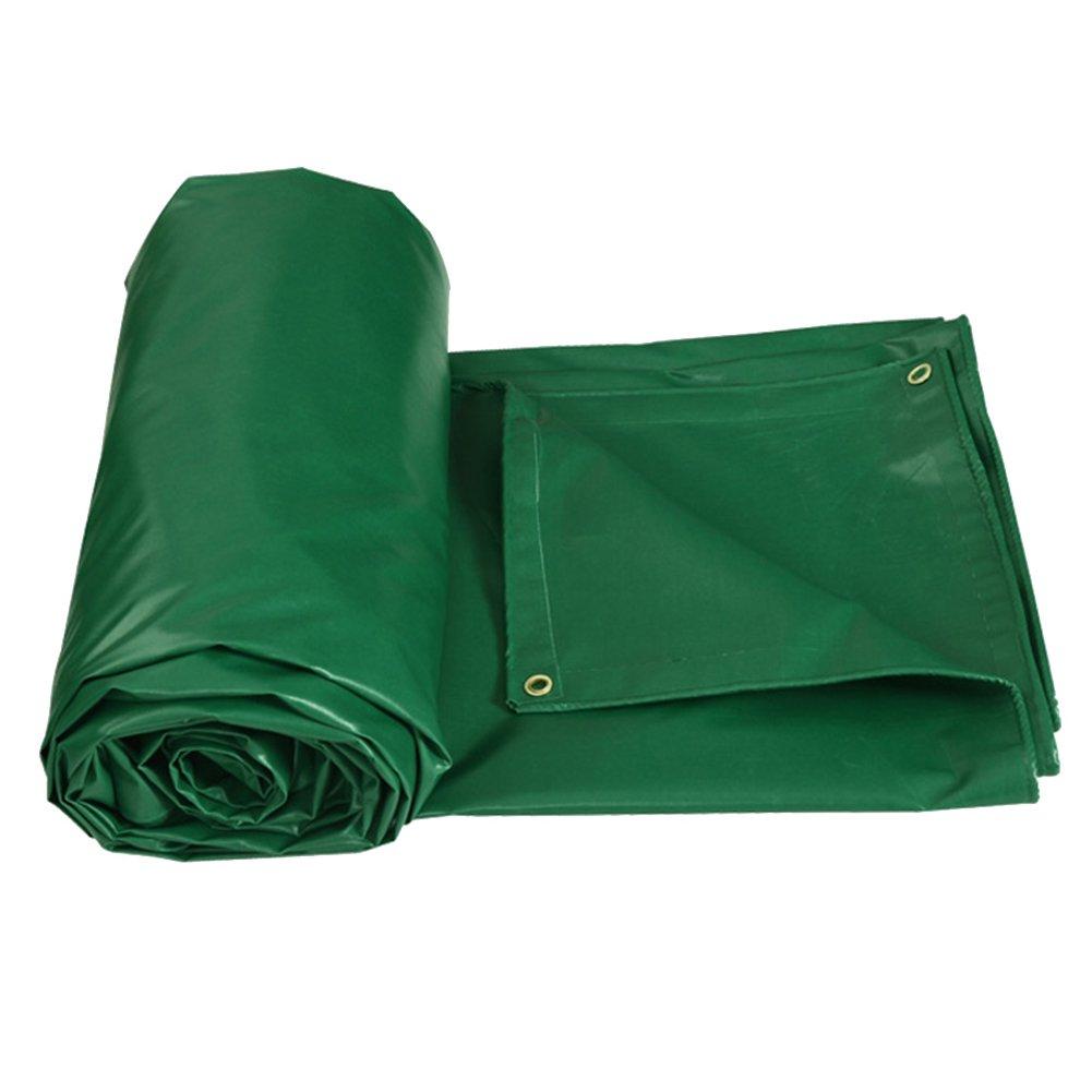 CHAOXIANG ターポリン 防雨布 リノリウム 耐摩耗性 折りたたみが簡単 キャノピー シェード布 PVC、 400G /㎡、 12サイズ (色 : Green, サイズ さいず : 2.85 × 1.9m) B07FYHG79G 2.85 × 1.9m|Green Green 2.85 × 1.9m