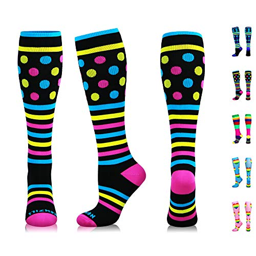 NEWZILL Swag Compression Socks (20-30mmHg) for Men & Women, Best Graduated Athletic Fit for Running, Nurses, Edema, Diabetic, Shin Splints, Flight Travel & Pregnancy (Swag Pink, Small)