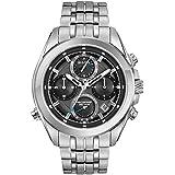 Bulova Men's 45mm Precisionist Stainless Steel Chronograph Watch