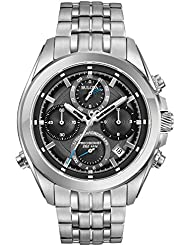 Bulova Mens Quartz Stainless Steel Casual Watch, Color:Silver-Toned (Model: 96B260)