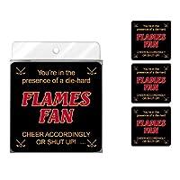 Tree-Free Greetings NC38173 Flames Hockey Fan 4-Pack Artful Coaster Set