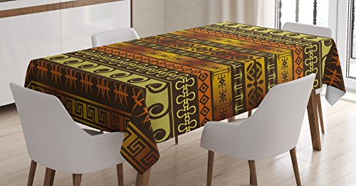 Primitive Decor Tablecloth By Ambesonne African