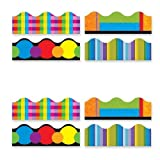 Wholesale CASE of 15 - Trend Variety Colors Trimmer Packs-Color Collage Themed Trimmer, 12 Panels, 156' Long, Multi