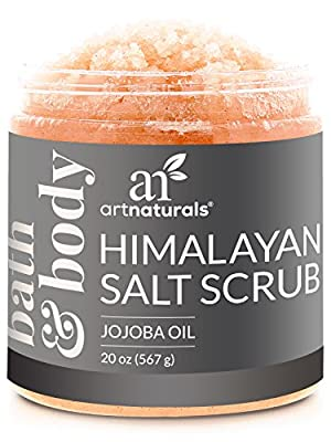 Art Naturals® Himalayan Salt Body Scrub 20oz -Deep Cleansing Exfoliator With Shea Butter, Dead Sea Salt, Vitamin C & Essential Oils - Moisturizes, Nourishes Soothes & Promotes Glowing, Radiant Skin