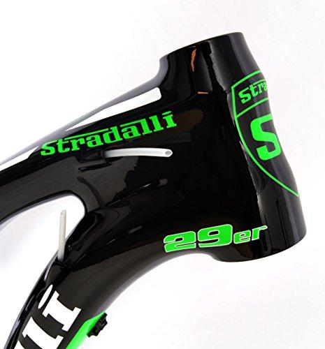 Stradalli 29er Green Edition Full Carbon Dual Suspension Cross Country XC Trail Mountain Bike Frame Frameset.