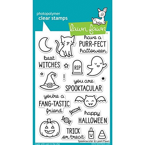 Halloween Clear Stamps - Lawn Fawn Clear Stamp Spooktacular