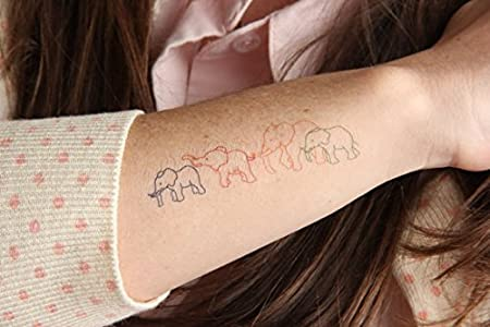 Tatuaje Temporal Tattify - Animal - Familia de elefantes (Juego de ...