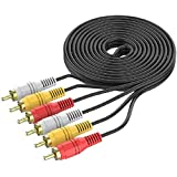 FEDUS 3 RCA Male to Male 3 RCA Stereo Audio Video AV Cable 30 Feet 10 Meter STB, DVD System