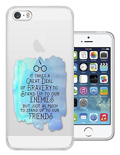 c01367 - Bravery Enemies Friends Quote Inspirational Design iphone 4 4S Fashion Trend CASE Gel Rubber Silicone All Edges Protection Case Cover
