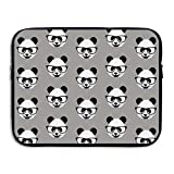 Fashion Laptop Sleeve Case Cute Glasses Panda Head Computer Storage Bag Portable Protective Bag Briefcase Sleeve Bags Cover for MacBook/Ultrabook/Notebook/Laptop