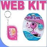All Pink Girl Gear VGA Webcam PLUS Barbie Digital Photo Keychain BigVALUEInc Pink Power Saver Bundle