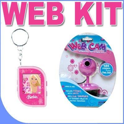 All Pink Girl Gear VGA Webcam PLUS Barbie Digital Photo Keychain BigVALUEInc Pink Power Saver Bundle by BVI