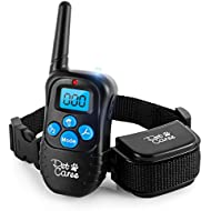 instecho Dog Training Collar, 100% Rainproof Rechargeable Electronic Remote Dog Shock Collar 330 Yards Beep/Vibrating/Shock Electric E-Collar