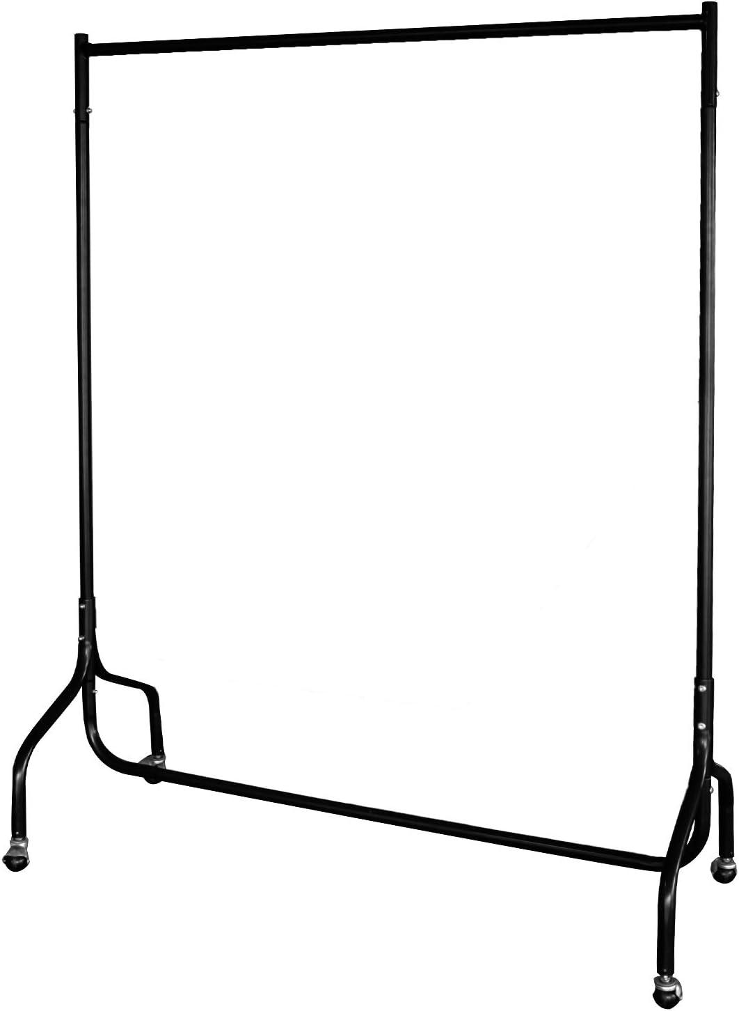 EZVOV Heavy Duty Clothes Rail Garment Rack 4 ft Long x 5 ft High, Black