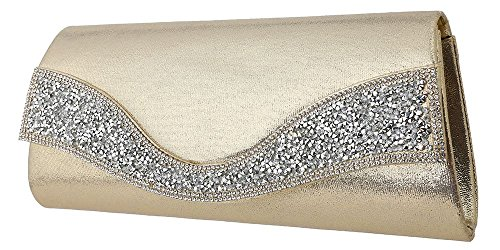 Glitter Bridal Handbag Gold Womens Party Clutch Bag Envelope Evening Hotstylezone Shoulder Chain Hfq4wxqBa