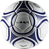 Uber Soccer Trainer Soccer Ball - White/Blue - Synthetic Leather - New Latex Bladder - Size 5