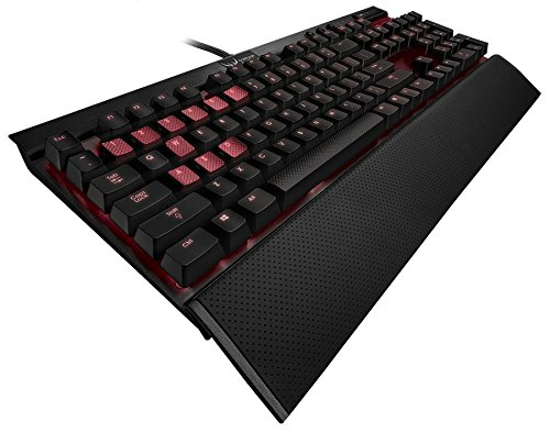 Corsair Gaming K70 Mechanical Gaming Keyboard, Backlit Red LED, Cherry MX Blue (CH-9000076-NA)
