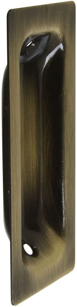 National Hardware N335-604 V141 Flush Pull in Antique Brass