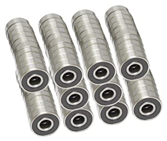 608-2RS Skateboard Bearing, 8x22x7, Sealed (Pack of 100)