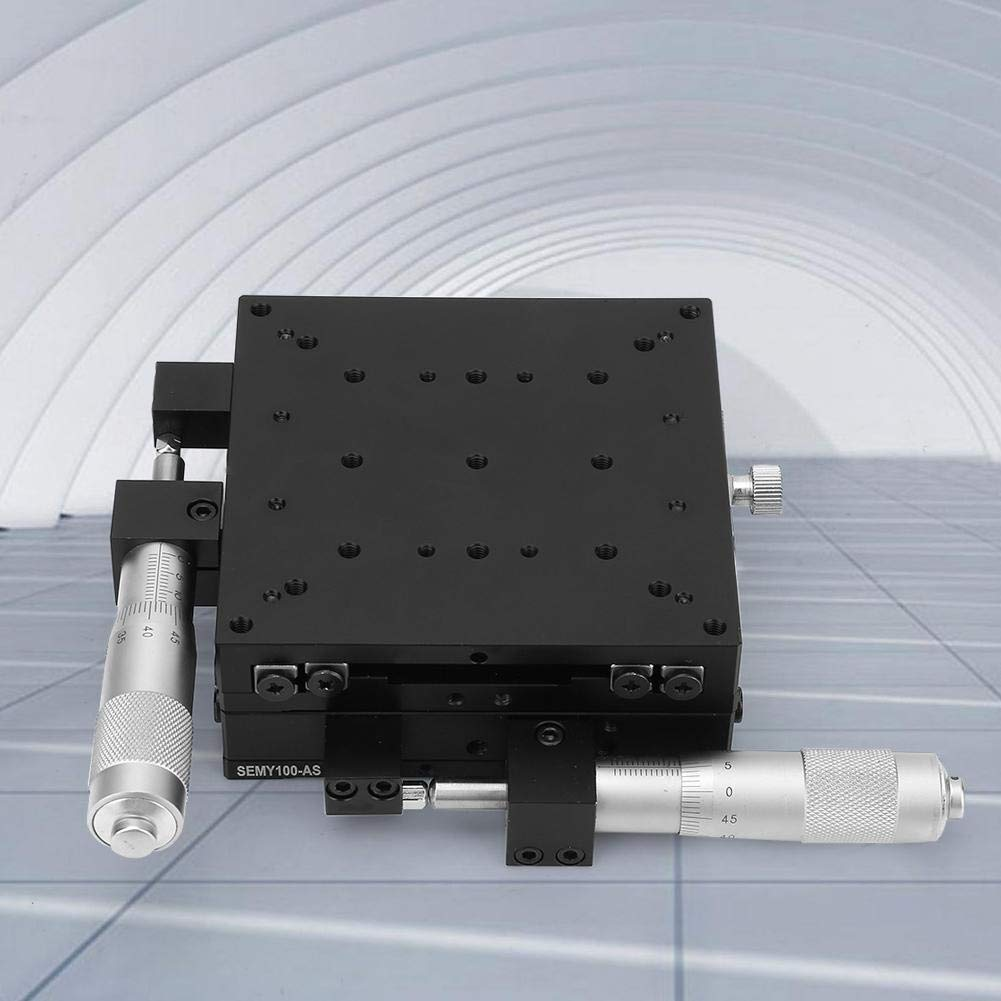 Linear Stages High Precision XY Micrometer Manual Fine-Tuning Cross Roller Table 10010040mm