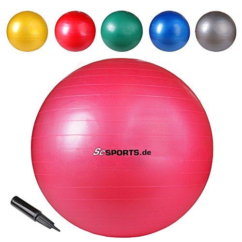 ScSPORTS Gymnastikball Sitzball, Pink, 65 cm, 10000396