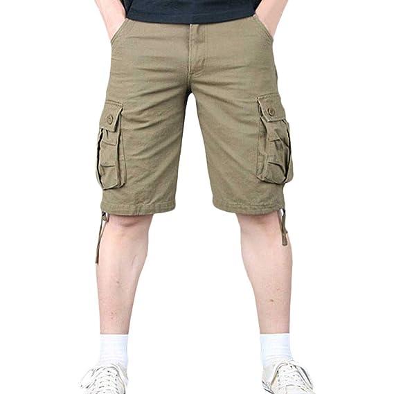 18bb7cea313 Cargo Shorts Bermudas Hombre Pantalones Cortos, ZARLLE Verano Militar Cortos  de Carga Camuflaje Bermuda Cortos Pantalones Deporte Shorts Multi Bolsillos  ...