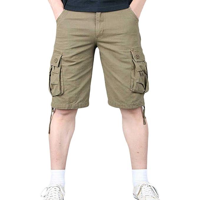 acbf4364be Cargo Shorts Bermudas Hombre Pantalones Cortos