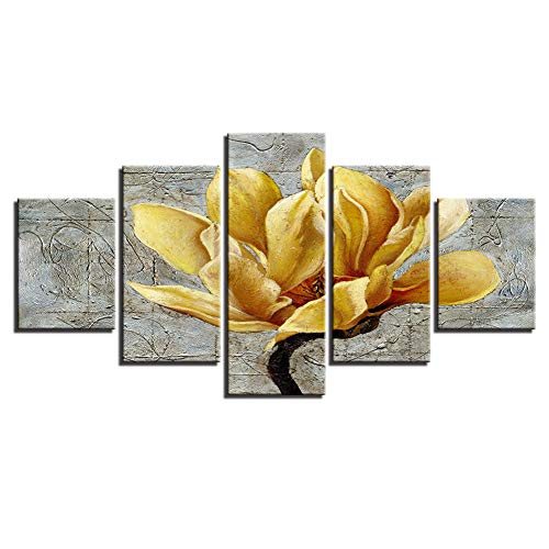 (Modern Canvas Wall Art Picture Yellow Flower, Jesus Paintings | Home Decoration Image Keep Your Heart Calm No Frame,A,55x100cm)