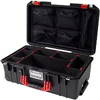 Black & Red Pelican 1535 Air case, with TrekPak Dividers & 1535 lid organizer.