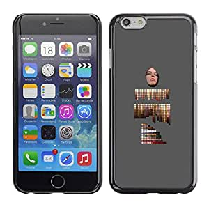Slim Design Hard PC/Aluminum Shell Case Cover for Apple Iphone 6 abstract painting artist palette grey / JUSTGO PHONE PROTECTOR