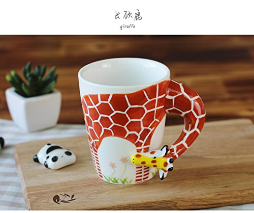 [SMKF Handmade Creative 3D animals creative ceramic cup (301-400ml) ,coffee cup, milk cup, breakfast cup, tea cup.] (Animal That Starts With J)