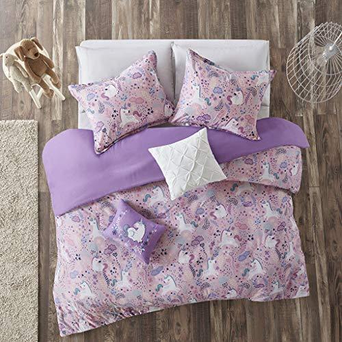 Urban Habitat Kids Lola Cotton Printed Duvet Cover Set, Full/Queen, Pink
