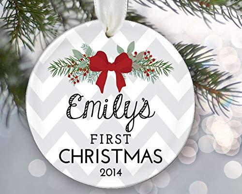 FloradeSweet Babys erstes Weihnachtsverzierungs-Babyparty-Geschenk Mein 1 Weihnachtsneues Baby-Andenken Neugeborene Verzierungs-Babys erstes Geschenk OR269