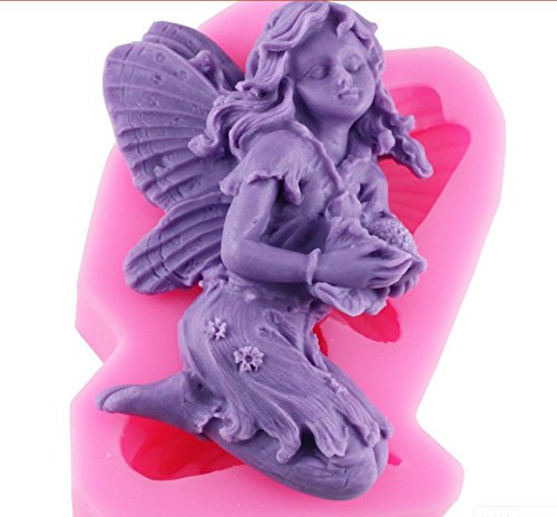Star Trade Inc - 3D Angel Fairy Silicone Soap Mold Resin Clay Candle Molds Chocolate Fondant Cake Moulds Kitchen Baking Cake Tools ( 1 pcs)