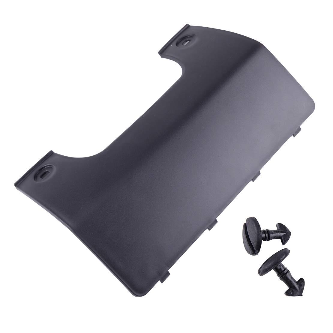 beler Black Rear Bumper Tow Eye Hook Cover Panel With Clip hermeshine
