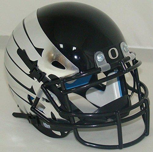 Schutt NCAA Oregon Ducks Mini Authentic XP Football Helmet, Matte Black Alt. 10