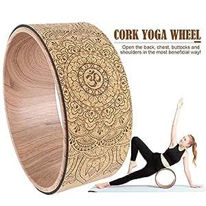 Holywonder - Rueda de Yoga de Corcho Natural, para la ...