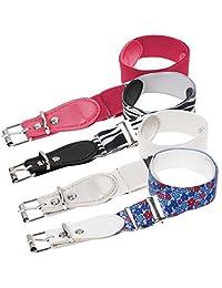 Bundle Monster 4pc Adjustable Elastic Band Girls Fashion Stretch Belts - Set 2, Pretty and Primal