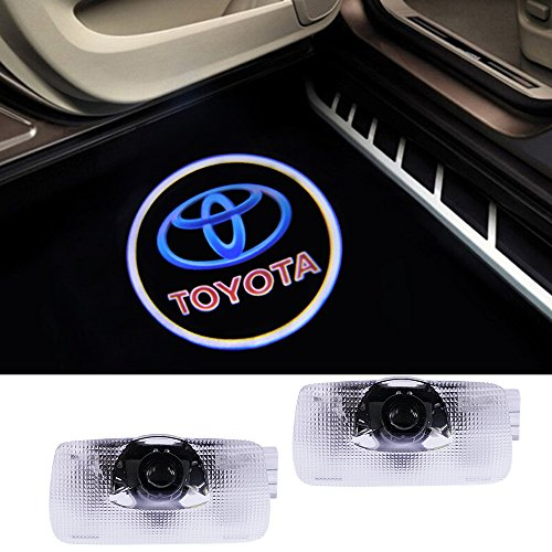 Toyota Logo Lights Ghost Lamp Accessories Door Lights Projector Easy Installation Welcome Emblem for Camry/Prius/Sequoia/Sienna/Tundra/Venza (Emblem Camry)