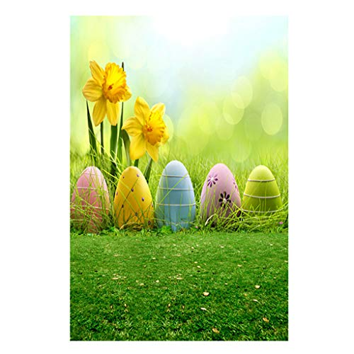 Easter Day Theme Vinyl Photography Backdrop Custom Photo Background Props