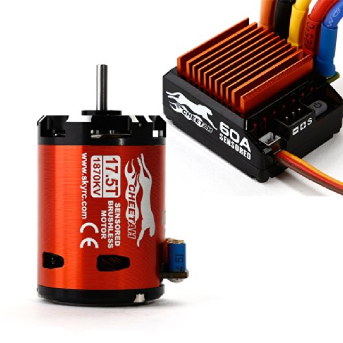 SkyRC Cheetah 1870KV 17.5T Sensored Brushless Motor and CS60 60A ESC 1/10 Combo   B01BEOQE2S